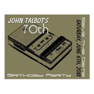 Reserva de la fiesta de cumpleaños de la grabadora postales