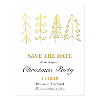 Reserva de la fiesta de Navidad del árbol de Postal