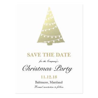 Reserva de la fiesta de Navidad del árbol de Tarjetas Postales