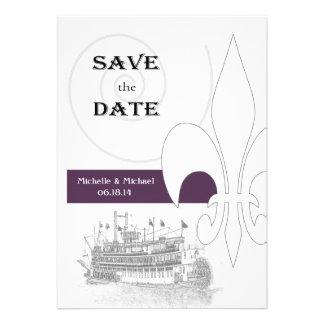Reserva de la flor de lis de la barca de New Orlea Invitación