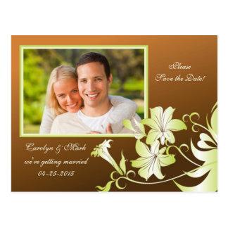 Reserva de la foto de la flor de trompeta la tarjeta postal