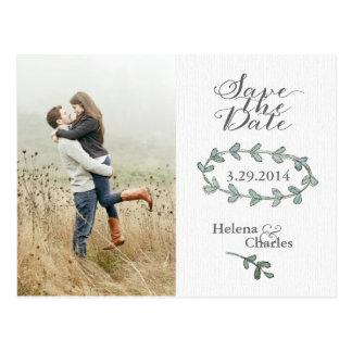 Reserva de la foto de la guirnalda del laurel la p tarjetas postales