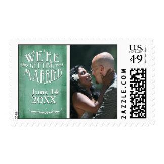 Reserva de la foto de la pizarra la fecha sellos