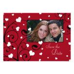 Reserva de la foto del boda del el día de San Vale Invitación Personalizada