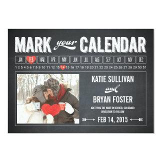 Reserva de la foto del calendario de la pizarra comunicado personal