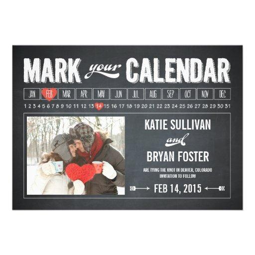 Reserva de la foto del calendario de la pizarra la comunicado personal