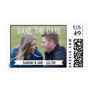 Reserva de la foto la fecha sello postal