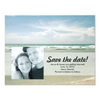 """Reserva de la foto la playa tropical de //de la invitación 4.25"""" x 5.5"""""""