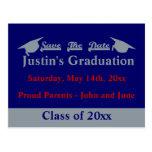 Reserva de la graduación la tarjeta de fecha con p tarjeta postal