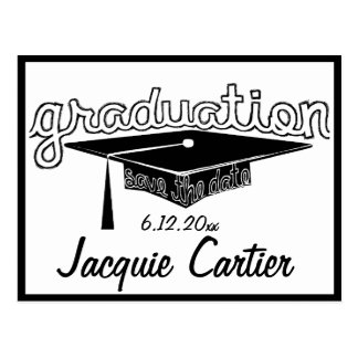 Reserva de la graduación la tarjeta de fecha postal