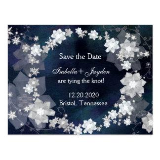 Reserva de la guirnalda del boda del invierno las postales