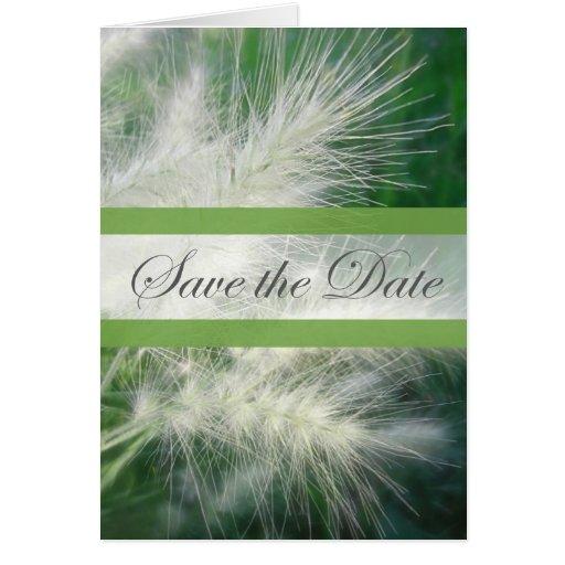 Reserva de la hierba 2 el boda de la fecha tarjeta de felicitación