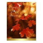 Reserva de la hoja de la caída del otoño la postal