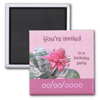 Reserva de la invitación de la fiesta de cumpleaño imán de frigorífico