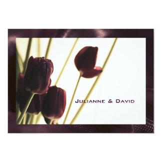 Reserva de la invitación del boda la tarjeta de la invitación 12,7 x 17,8 cm