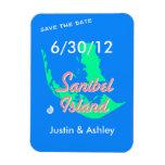 Reserva de la isla de Sanibel el boda de playa de  Imanes Rectangulares