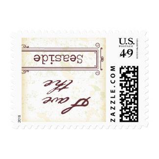 Reserva de la izquierda la fecha sellos