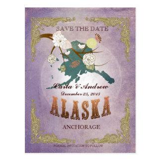Reserva de la lavanda la fecha - mapa de AK con Postal