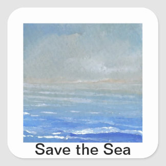 Reserva de la luz suave el pegatina del océano del
