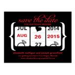 Reserva de la máquina tragaperras la fecha - boda tarjetas postales