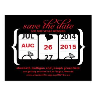 Reserva de la máquina tragaperras la fecha - boda postal
