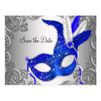 Reserva de la mascarada del azul real la fecha tarjeta postal