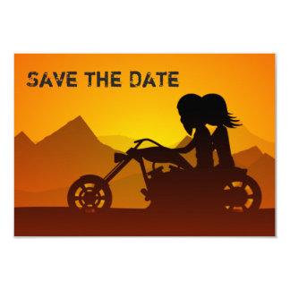 Reserva de la motocicleta la invitación del boda