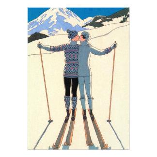 Reserva de la nieve de los esquís del beso del amo anuncio