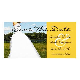 Reserva de la novia del prado la tarjeta de la tarjeta con foto personalizada