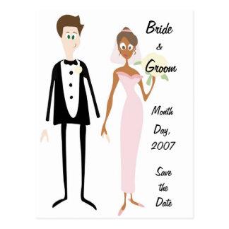 Reserva de la novia y del novio del KRW la postal