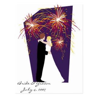 Reserva de la novia y del novio los bodas de la fe tarjeta postal