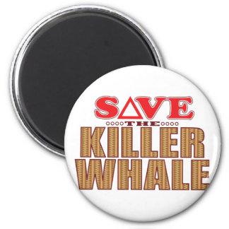 Reserva de la orca imán redondo 5 cm