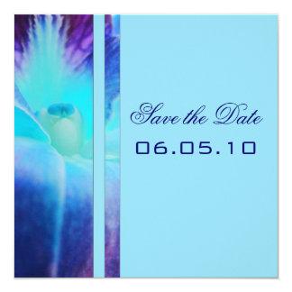Reserva de la orquídea azul la invitación de la
