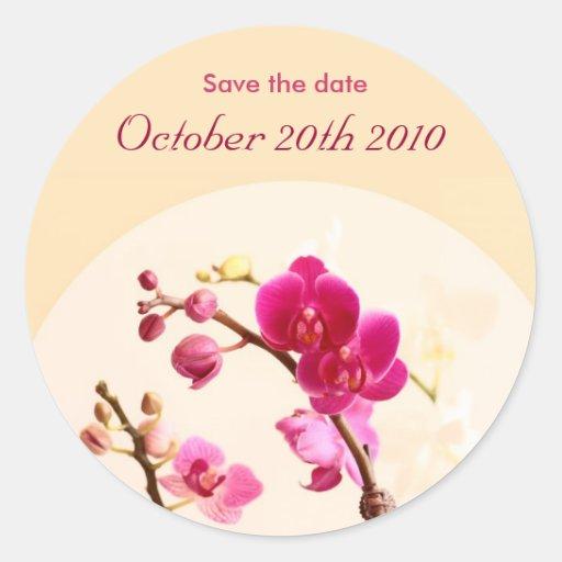 Reserva de la orquídea el pegatina de la fecha