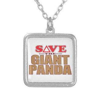 Reserva de la panda gigante collar plateado