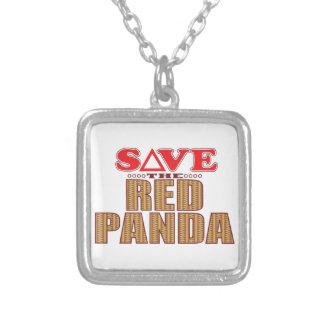 Reserva de la panda roja collar plateado