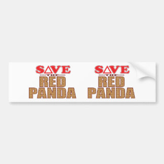 Reserva de la panda roja pegatina para auto