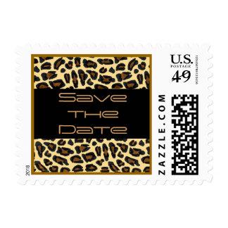 Reserva de la piel del leopardo la fecha sello postal