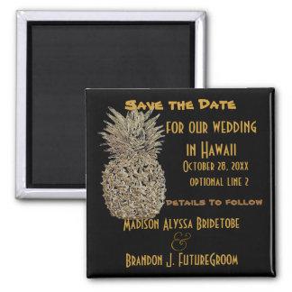 Reserva de la piña de Hawaii la fecha Imán Cuadrado