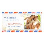 Reserva de la playa del verano del correo aéreo la tarjetas personales