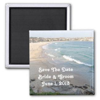 Reserva de la playa el imán de la fecha