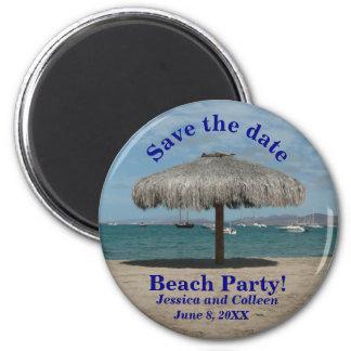 Reserva de la playa el personalizado náutico del imán redondo 5 cm