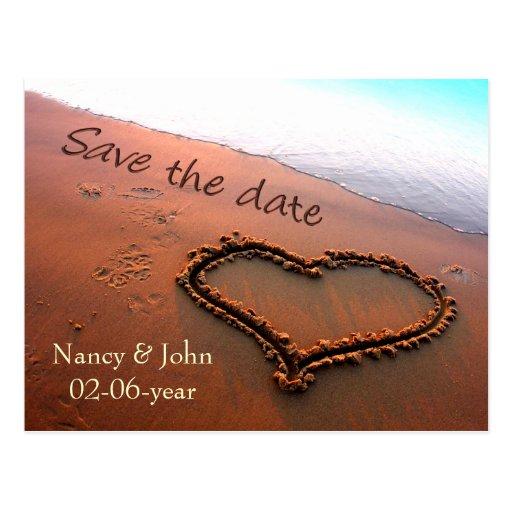 Reserva de la playa la fecha postal