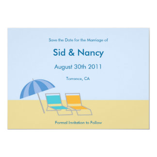 Reserva de la playa la invitación de la fecha
