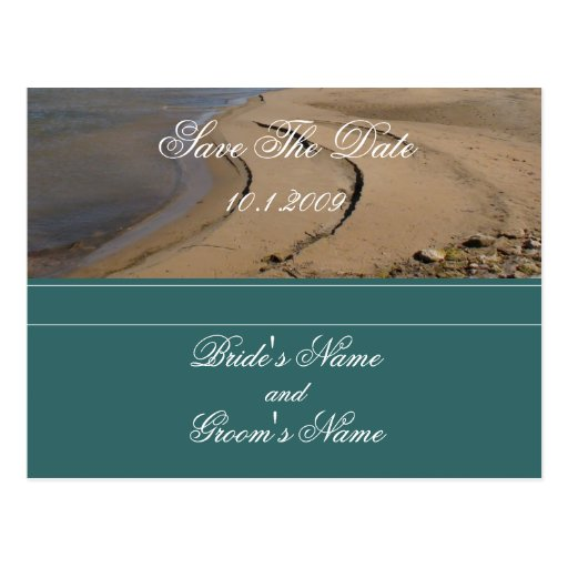 Reserva de la playa la postal de la fecha