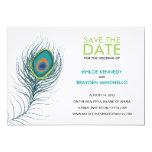 Reserva de la pluma del pavo real la fecha comunicado personalizado