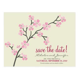 Reserva de la POSTAL de la flor de cerezo la fecha