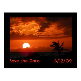 Reserva de la puesta del sol de Hawaii la postal d