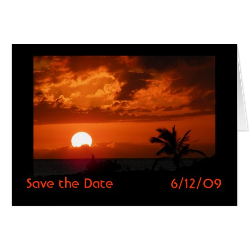 Reserva de la puesta del sol de Hawaii la tarjeta