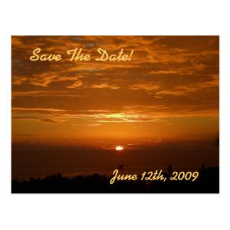 Reserva de la puesta del sol la postal de la fecha